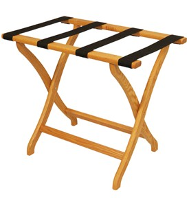 Designer Solid Oak Luggage Rack by Wooden Mallet Image